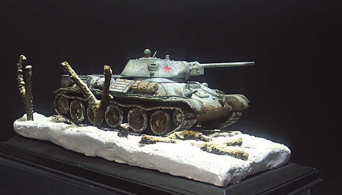 T 34 in Winter Camouflage